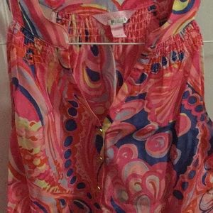 Lilly Pulitzer Tops - Lilly Pulitzer Silk sleeveless Essie Top